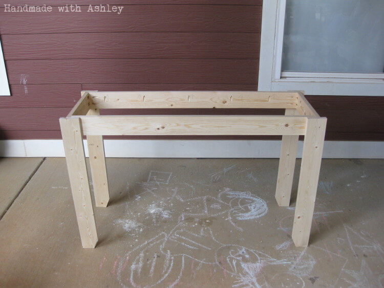 Rustic console frame