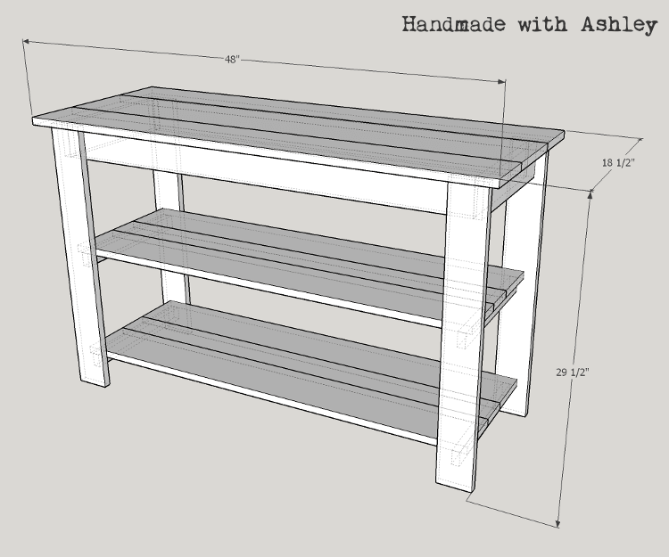 Rustic Console model