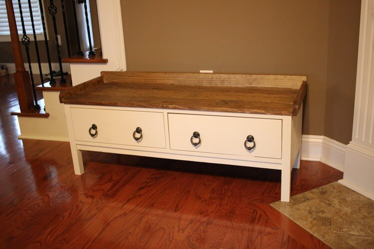 DIY Storage Bench With D Lawless Hardware Augusts FFFC