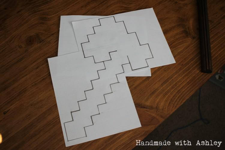 Creating a pattern on graph paper