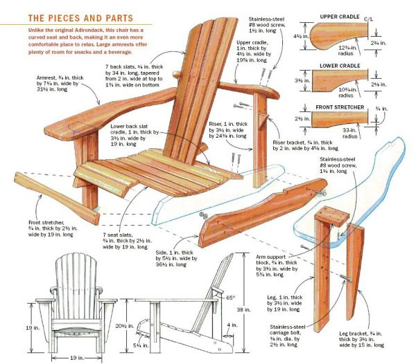 Building An Adirondack Chair Handmade With Ashley