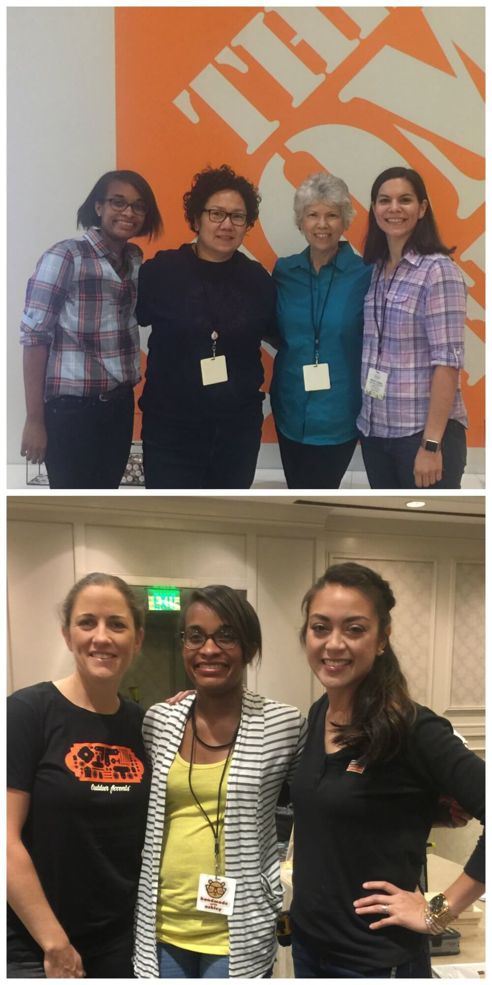 Haven Conference 2017 Recap & Review. Top photo: Me, Alma from Pink Soul Studios, Vicky and Steph from Mother Daughter Projects. Bottom photo: Jamie, me and Jen.