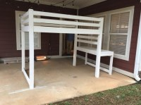 DIY Loft Bed (Plans by Ana White) - Handmade with Ashley