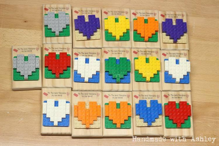 16 Homemade LEGO Valentines