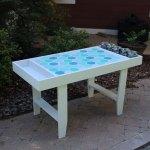 Diy Geometric Kids Art Table September Fab Furniture