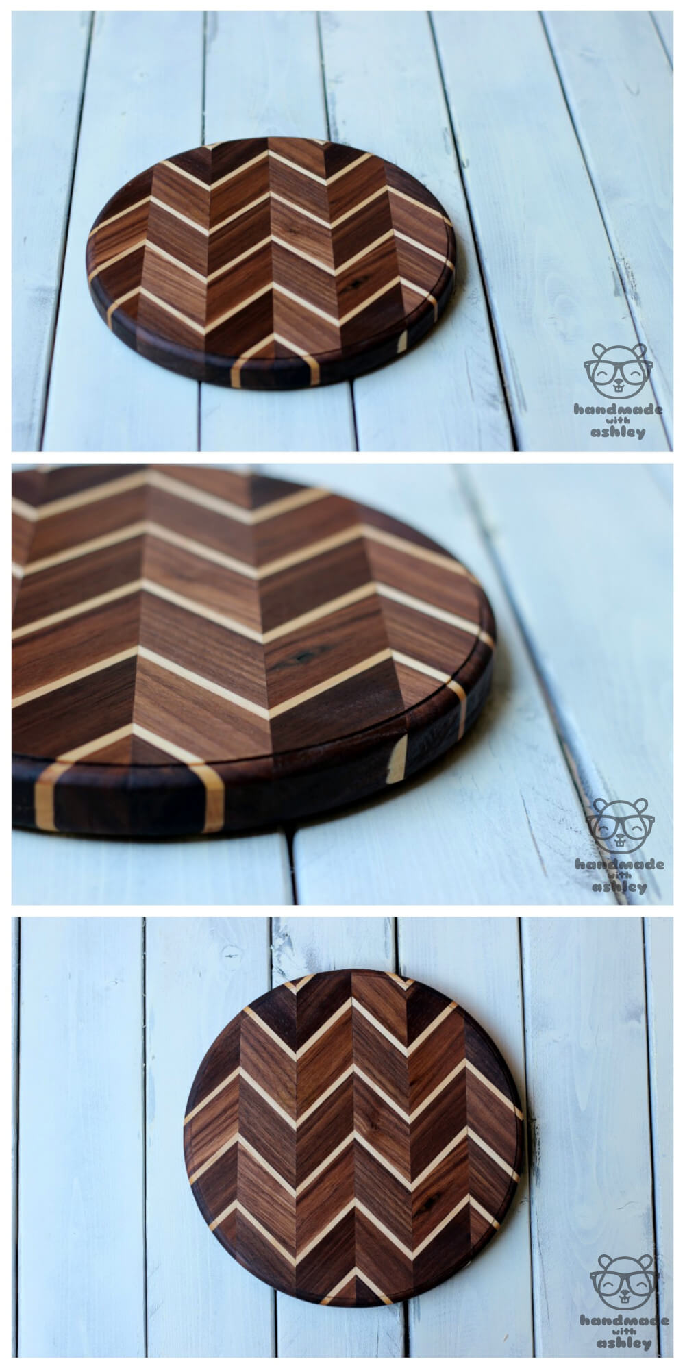 Make a Chevron Cutting Board by Handmade with Ashley