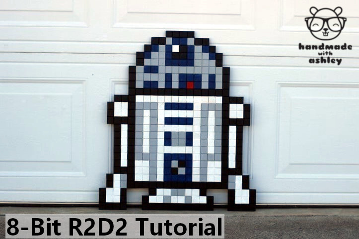 8 Bit Star Wars R2 D2 Pixel Wall Art Tutorial Handmade