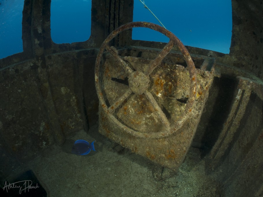BBC Wreck wheelhouse