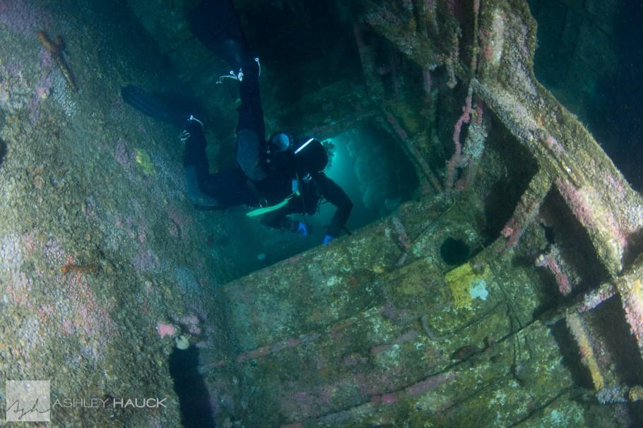 Inside the HMCS Yukon wreck, San Diego