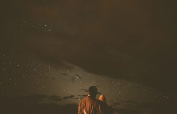 Stargazing engagement shoot at Hotel Luna Mystica in Taos New Mexico