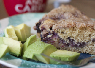 Blueberry-Rhubarb Coffee Cake: MY EAST COAST KITCHEN