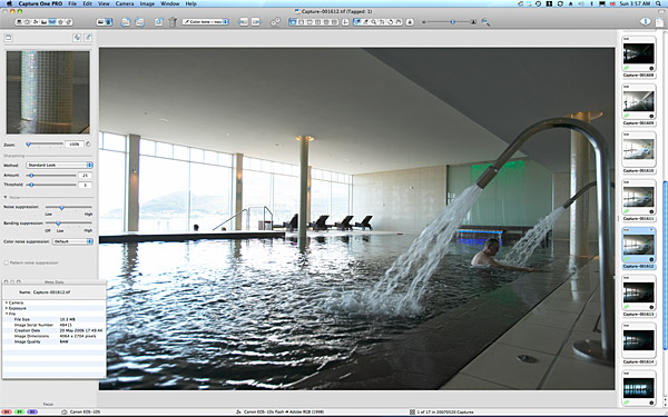 One of the reference pictures taken of the swimming pool at the Slieve Donard Resort & Spa Hotel in Newcastle.