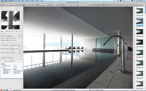 One of the main​ pictures used to create the final image of the swimming pool at the Slieve Donard Resort & Spa Hotel in Newcastle.