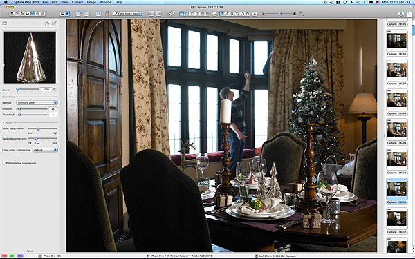 Setting up the Christmas table shot at Doonbeg.