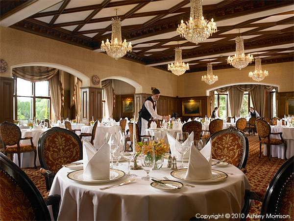 George V dining room at Ashford Castle