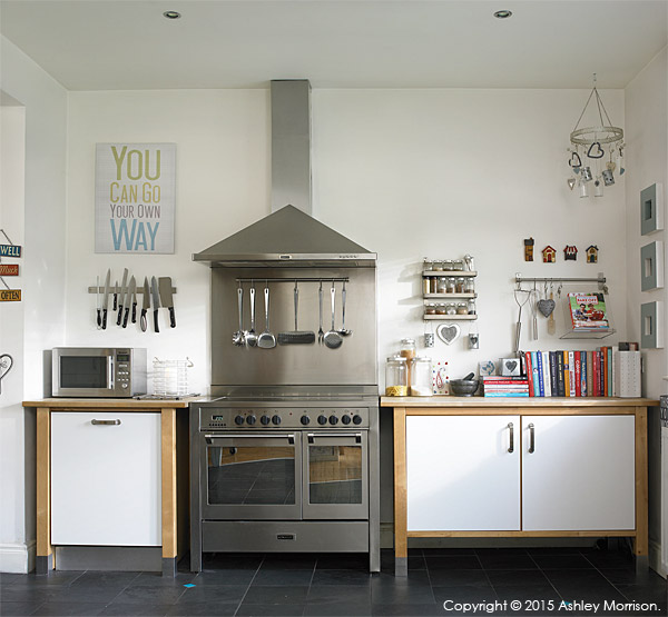 The kitchen in Nicola and Ray Anderson's period house in the County Down town of Donaghadee.