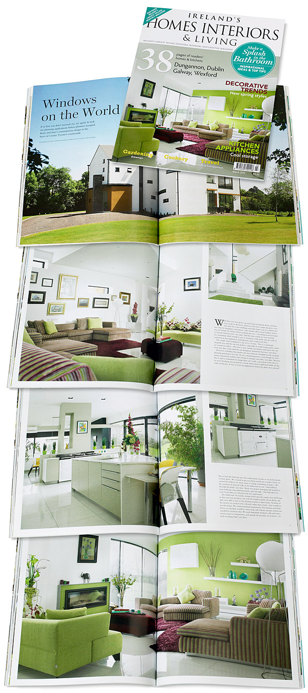 The cover plus pages 70 to 83 in the March 2015 issue of Ireland's Homes Interiors & Living magazine