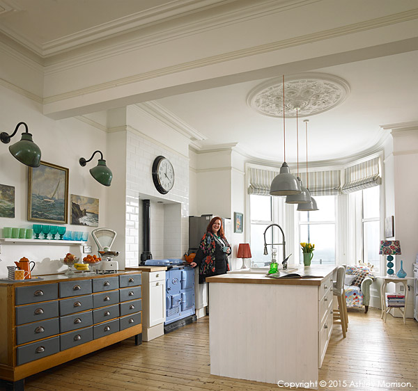 Keri Johnston in the kitchen of her townhouse which overlooks Ballyholme Bay in the County Down seaside town of Bangor.