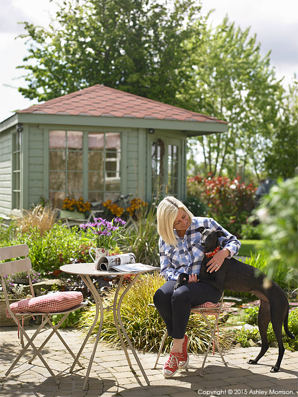 Lesley Anderson outside her cottage style bungalow near Portaferry in County Down.