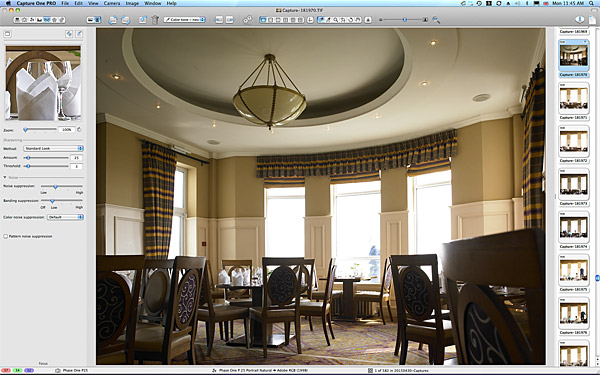 One of the first pictures taken in the Lobster Pot restaurant at the Galway Bay Hotel.