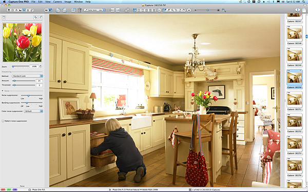 One of the images taken of the kitchen in Lesley & Lindsay Anderson's cottage style bungalow.