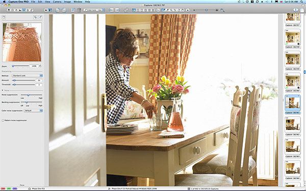 First image taken of the dining area in Lesley & Lindsay Anderson's cottage style bungalow.