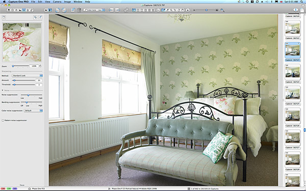 First image taken of the bedroom in Lesley & Lindsay Anderson's cottage style bungalow.