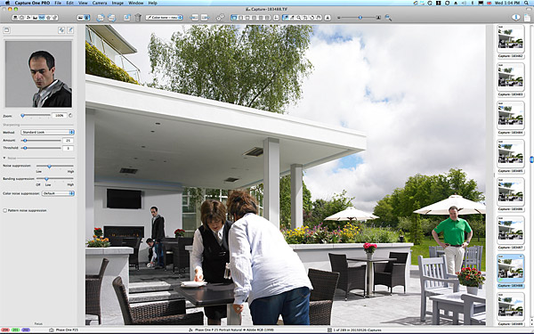 One of the first image taken of the Garden Terrace at the Killarney Park Hotel in the Irish county of Kerry.