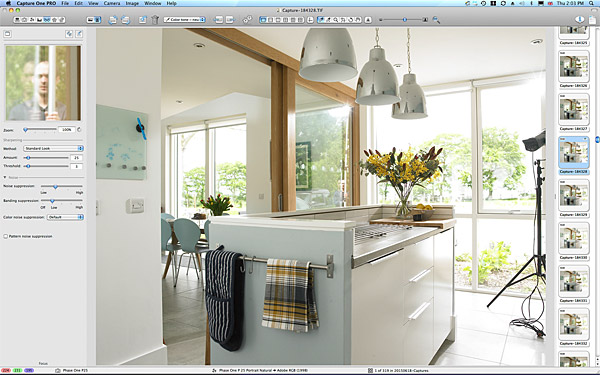 First picture taken in kitchen of Kim & Derek Loughery's barn extension in County Londonderry.