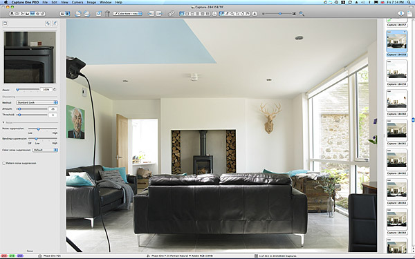 First picture taken of the sitting room in Kim & Derek Loughery's barn extension in County Londonderry.