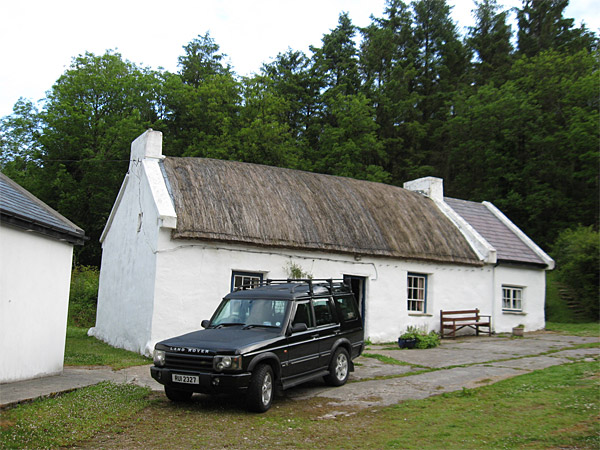 Maggie & Robert Graham's 18th century Irish thatched cottage near the village of Kerrykeel in County Donegal.