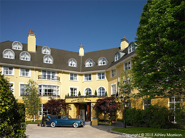 The Killarney Park Hotel in the town centre of Killarney in the Irish county of Kerry.