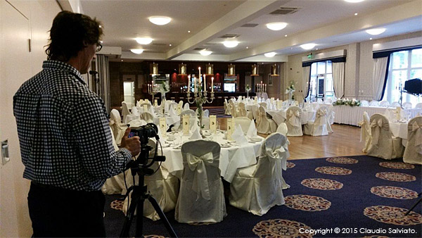 Shooting in the Banquet suite at the Breaffy House Resort in County Mayo.
