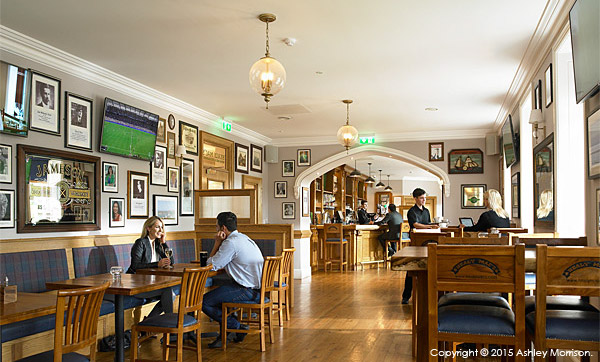 Healy Mac's bar at the Breaffy House Resort in the County Mayo town of Castlebar.