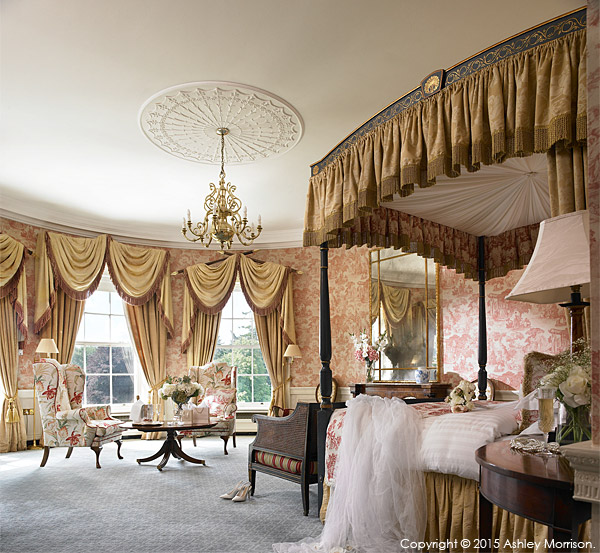 The Viceroy Bridal Suite at the Kildare Hotel Spa & Golf Club near Straffan in County Kildare.