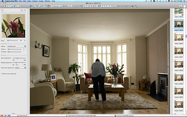 Marie working in the sitting room of Lisa & Conor McCann's detached house located in the Rosetta area of Belfast.