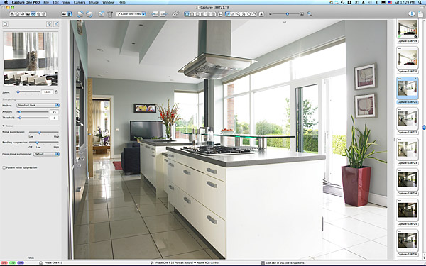 One of the first picture taken in the kitchen of Anna & Jamie McMinnis's contemporary detached house which overlooks the County Down town of Holywood and Belfast Lough.