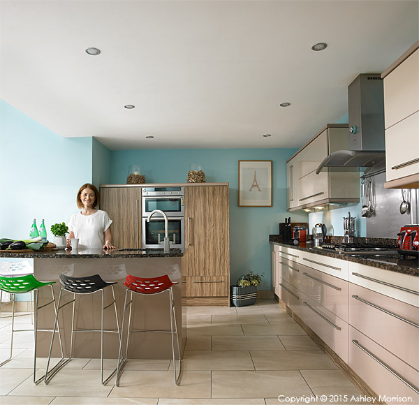 Lisa McCann in the kitchen of her detached house located in the Rosetta area of Belfast.