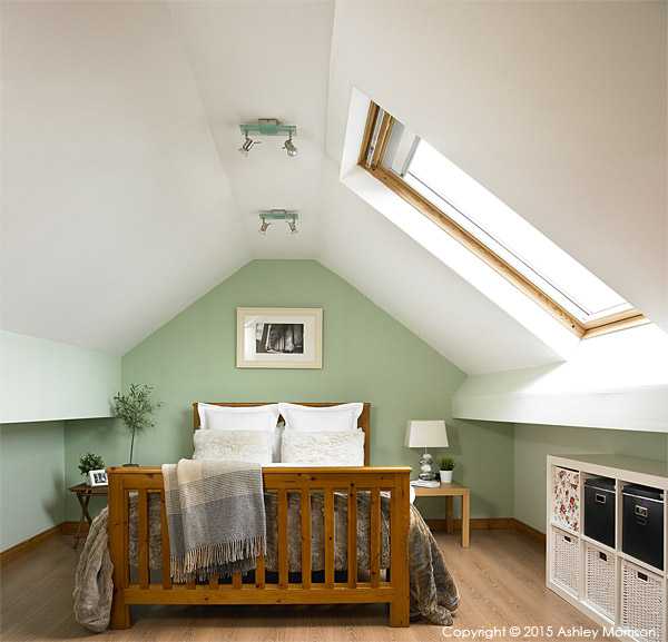 Bedroom in Lisa & Conor McCann's detached house located in the Rosetta area of Belfast.