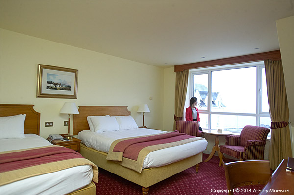 Recce picture taken in the Atlantic View bedroom at the Galway Bay Hotel on the promenade at Salthill.
