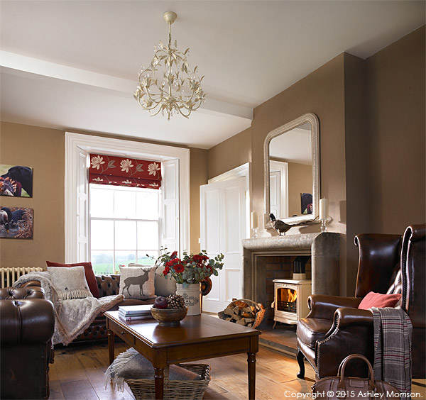 The sitting room of Rosemary Bothwell's cottage near Fivemiletown in County Tyrone.