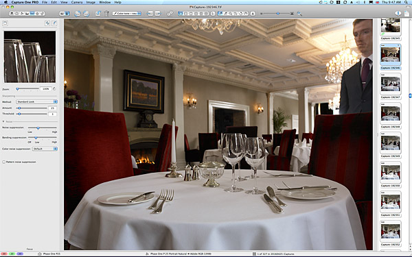 First picture taken in the Park Restaurant at Killarney Park Hotel in the Irish County of Kerry.