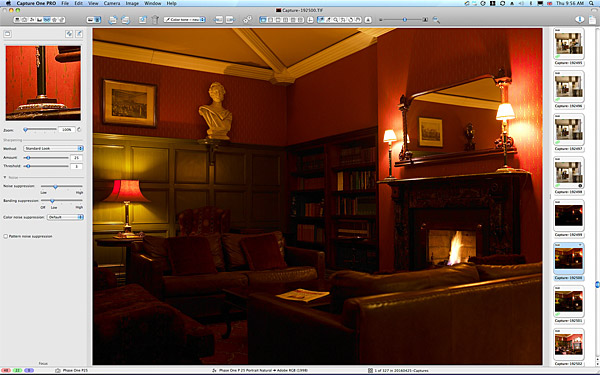 First picture taken in the Library at Killarney Park Hotel in the Irish County of Kerry.