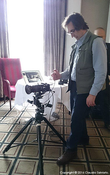 Behind the scenes during the shoot in the Park Restaurant at Killarney Park Hotel in the Irish County of Kerry.