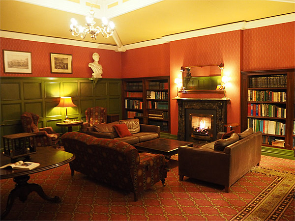 Recce picture of the Library at Killarney Park Hotel.