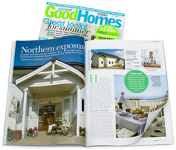 July 2010 issue of Good Homes magazine.