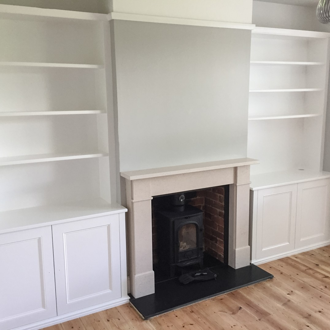 Matching Chimney Alcove Cabinets