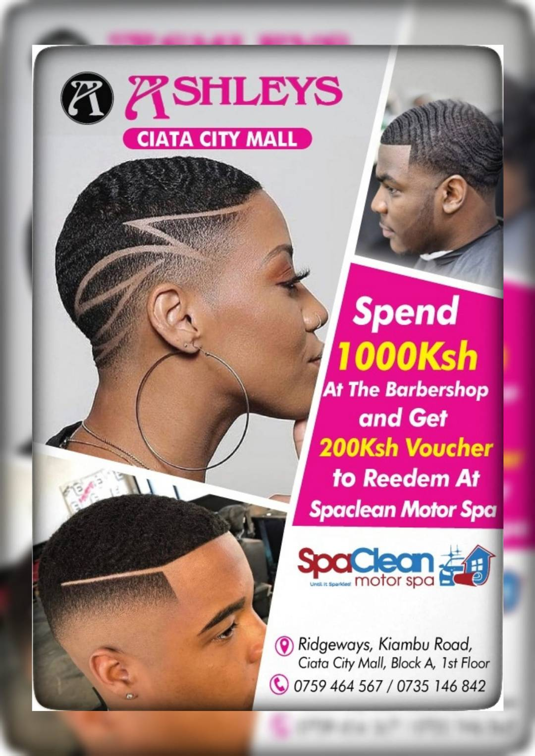Ashleys Kenya Ciata Mall Special Offer voucher