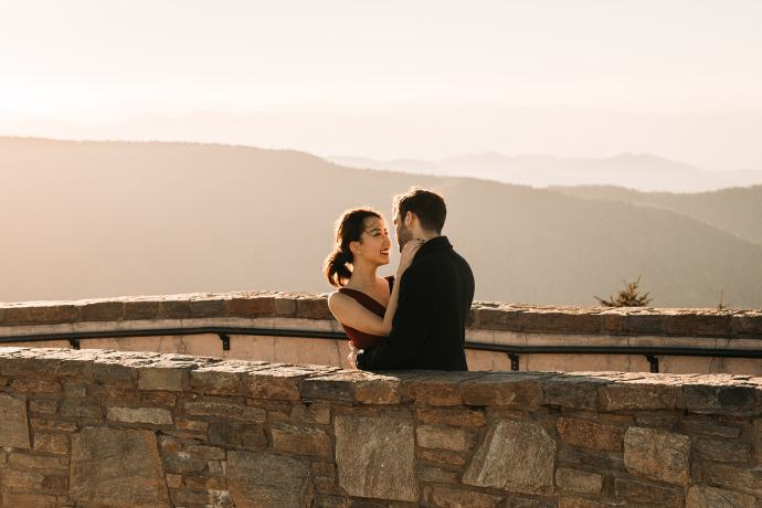 Mt Mitchell Sunset Engagement Session