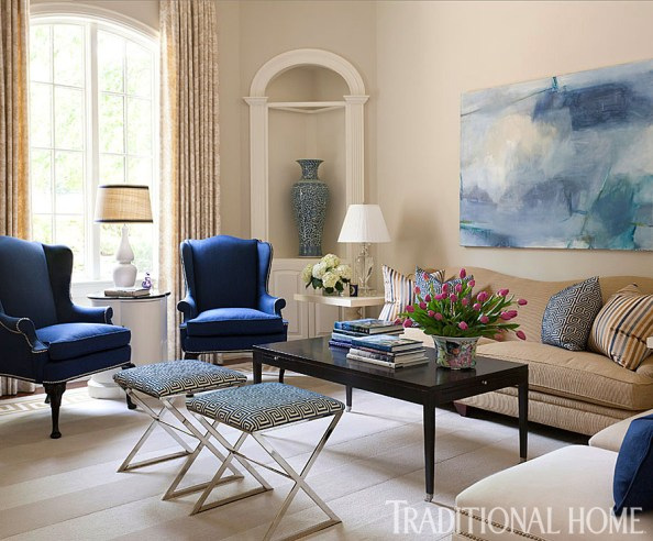 Interior Design by Tobi Fairley, Photo by Nancy Nolan via Traditional Home